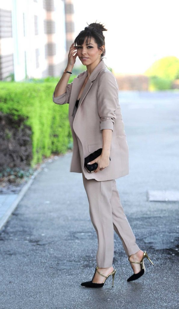Roxanne Pallett Was Seen at Media City in Manchester 06/23/2017-3