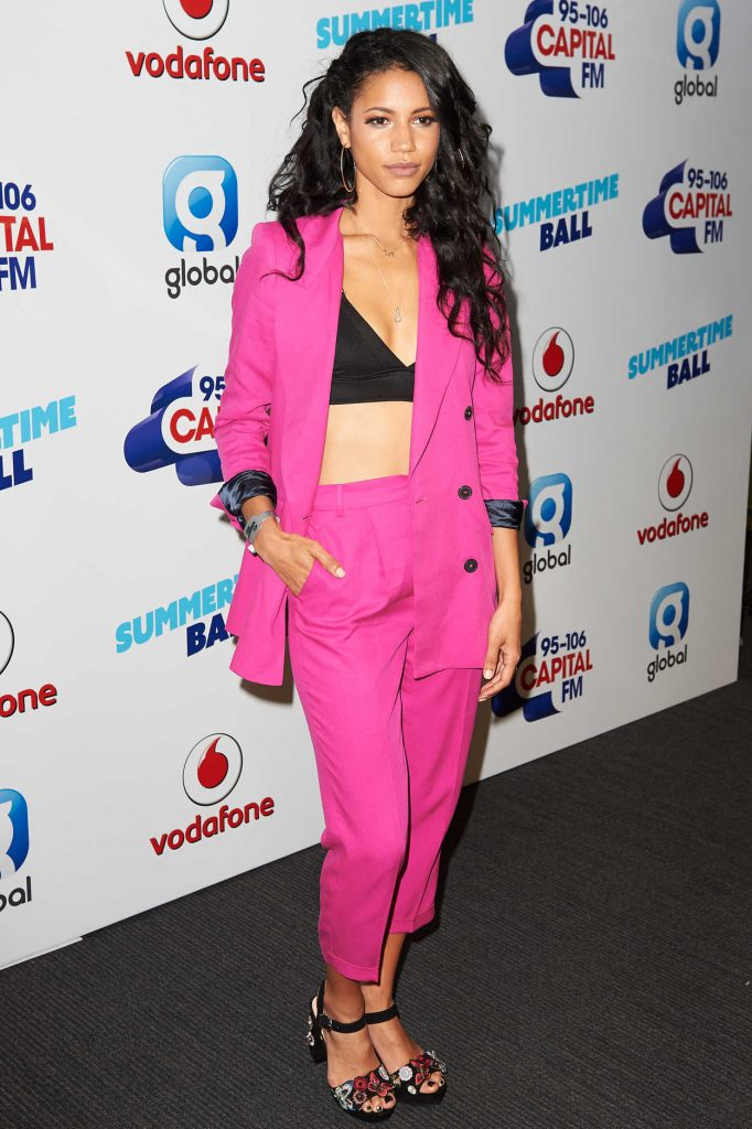 Vick Hope at the Capital's Summertime Ball at Wembley Stadium in London 06/10/2017-1