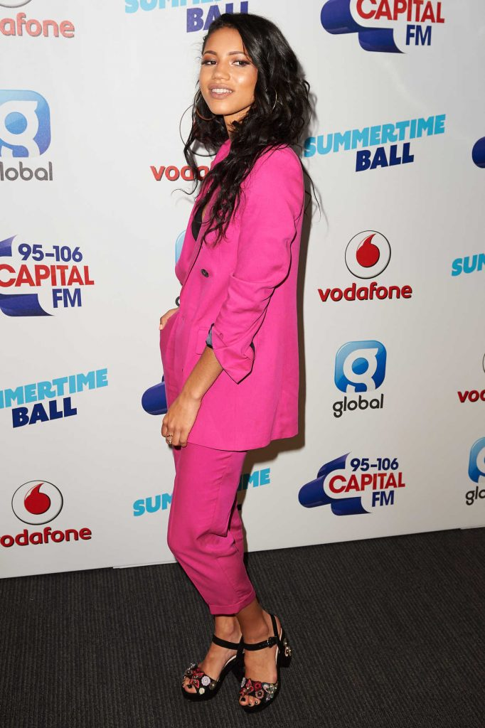 Vick Hope at the Capital's Summertime Ball at Wembley Stadium in London 06/10/2017-3