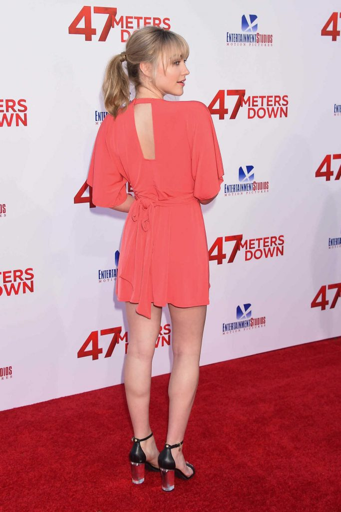 Violett Beane at the 47 Meters Down Premiere in Hollywood 06/12/2017-4