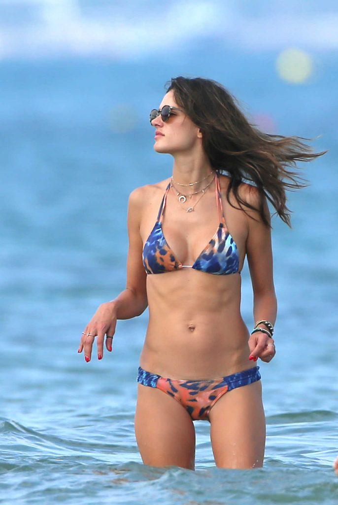 Alessandra Ambrosio in Bikini at the Beach in Ibiza 07/09/2017-4