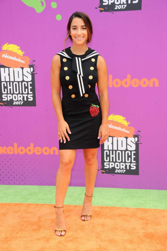 Aly Raisman at the Nickelodeon Kids' Choice Sports Awards in Los Angeles 07/13/2017-2