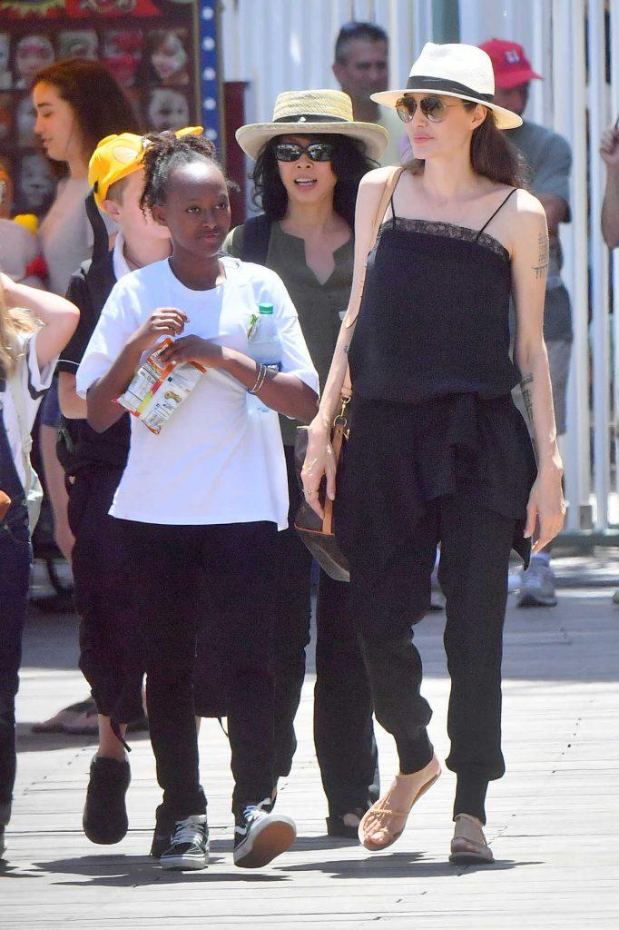 Angelina Jolie Was Seen With Her Kids at Disneyland in Anaheim 07/12/2017-1