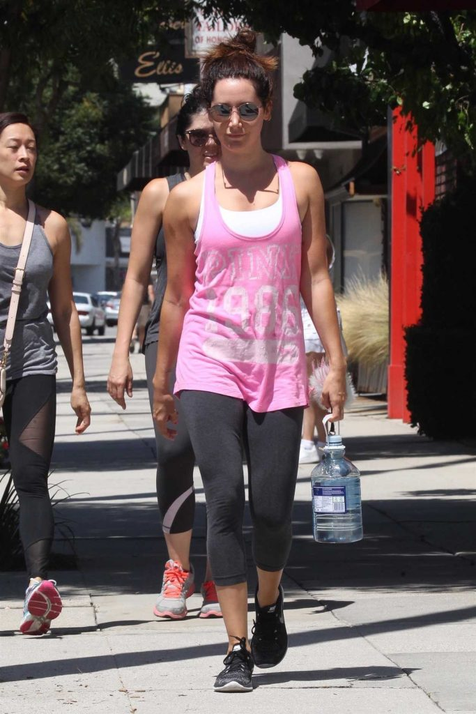 Ashley Tisdale Arrives to the Gym in LA 07/14/2017-1