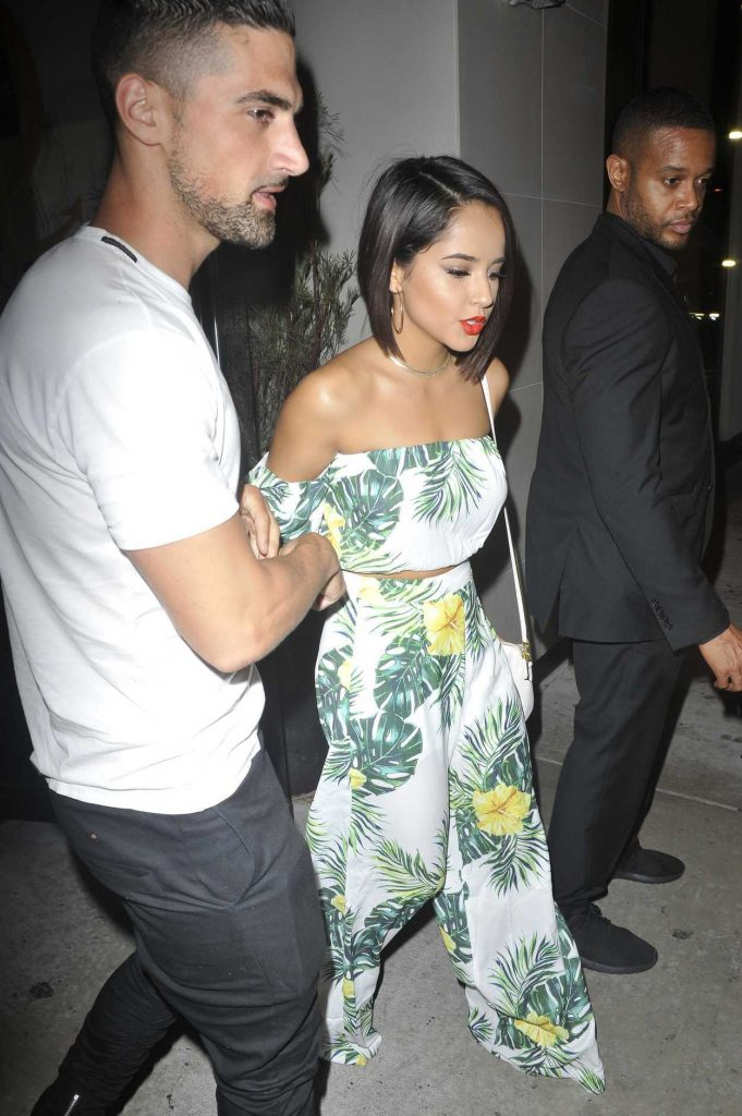 Becky G Leaves Catch Restaurant in Los Angeles 07/29/2017-2