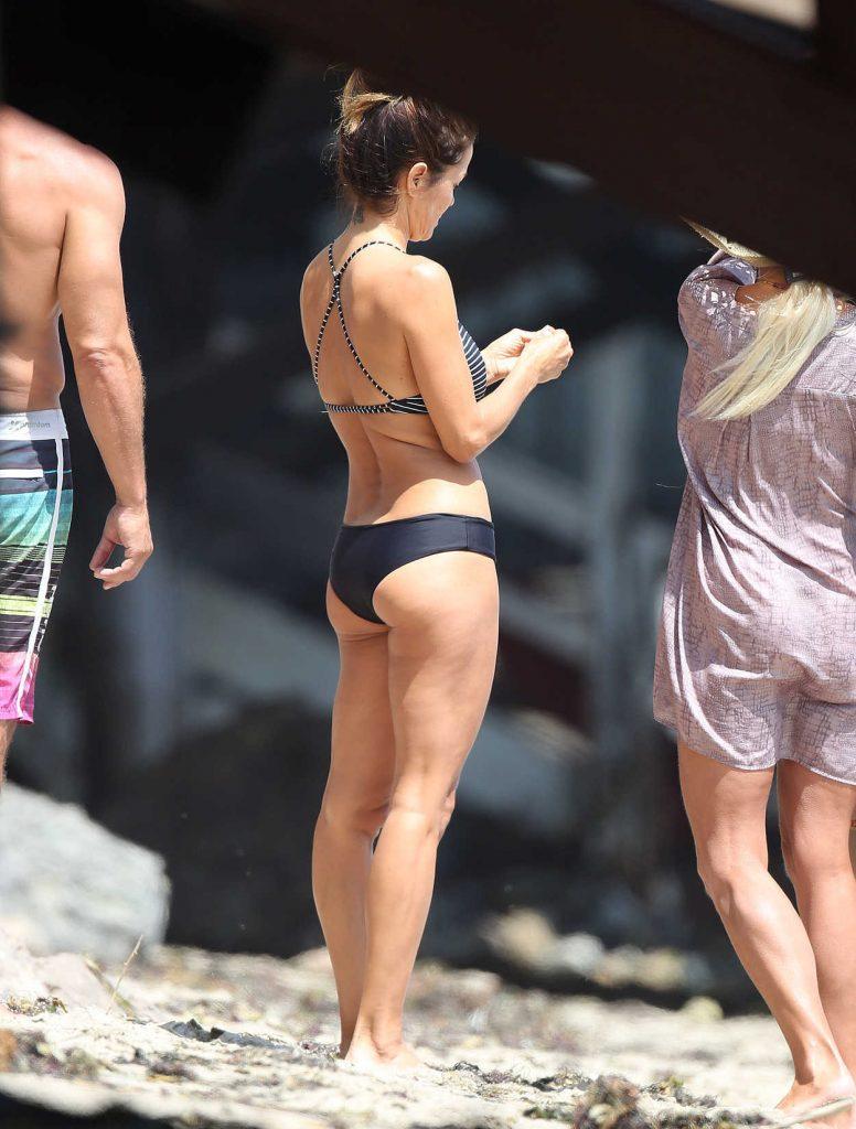 Brooke Burke in Bikini at Her Beach House in Malibu 07/25/2017-2