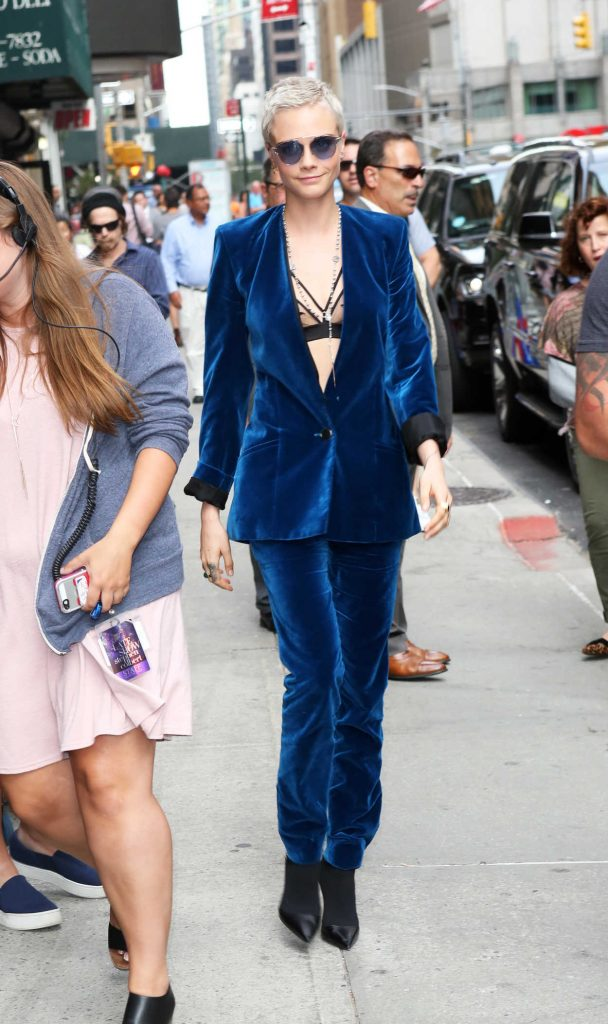 Cara Delevingne Attends the Late Show With Stephen Colbert in NYC 07/20/2017-1