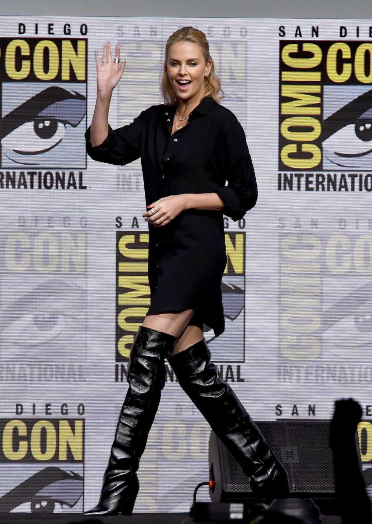 Charlize Theron at Women Who Kick Ass Panel During the San Diego Comic-Con International 07/22/2017-1