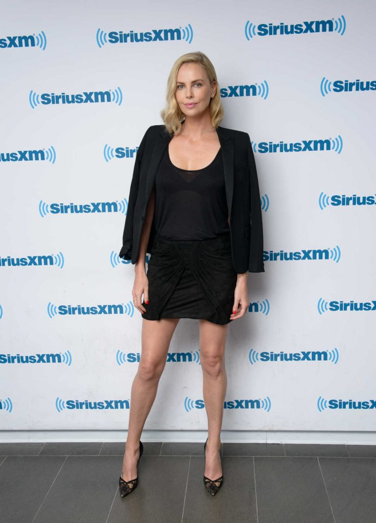 Charlize Theron Visits 80s on 8 at the SiriusXM Studios in New York City 07/19/2017-1