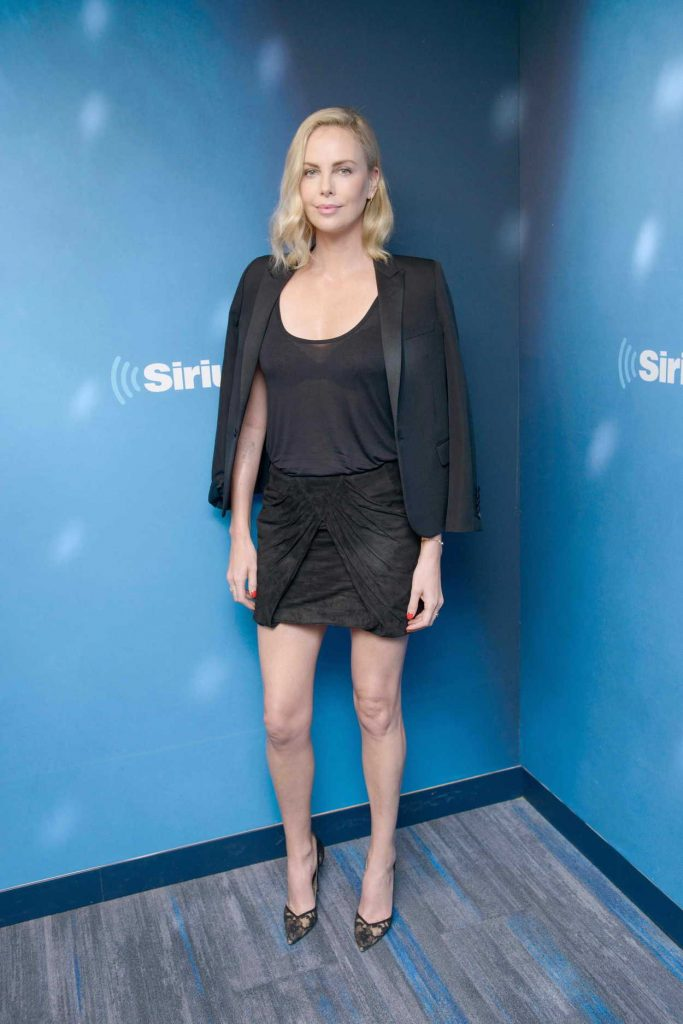 Charlize Theron Visits 80s on 8 at the SiriusXM Studios in New York City 07/19/2017-2
