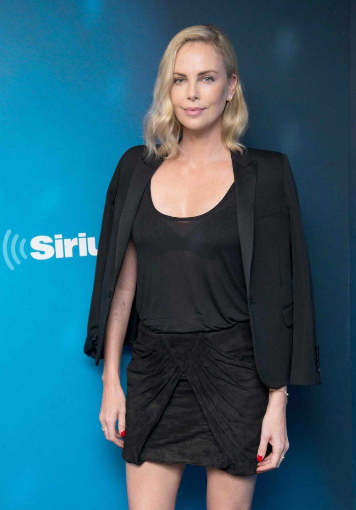 Charlize Theron Visits 80s on 8 at the SiriusXM Studios in New York City 07/19/2017-3
