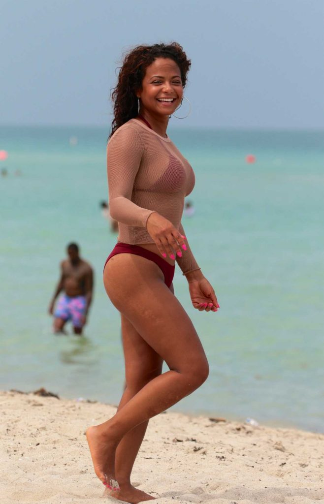 Christina Milian in Bikini at the Beach in Miami 07/22/2017-2
