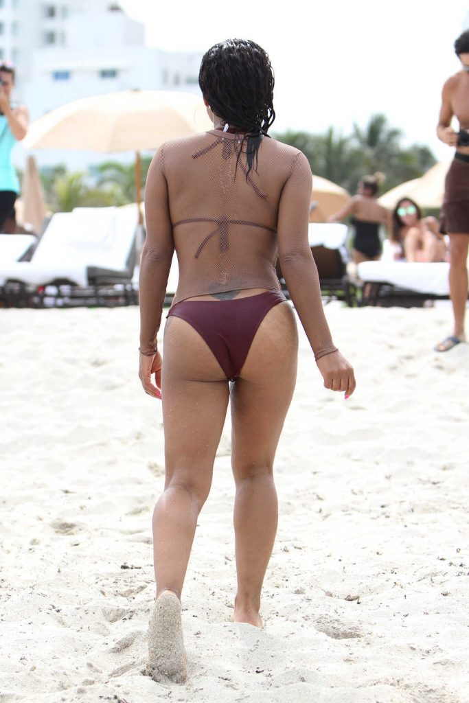 Christina Milian in Bikini at the Beach in Miami 07/22/2017-3