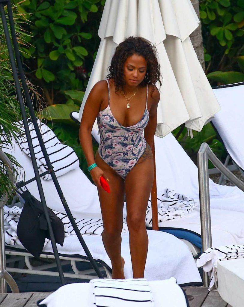 Christina Milian Wears a Bikini at Her Hotel in Miami 07/16/2017-3