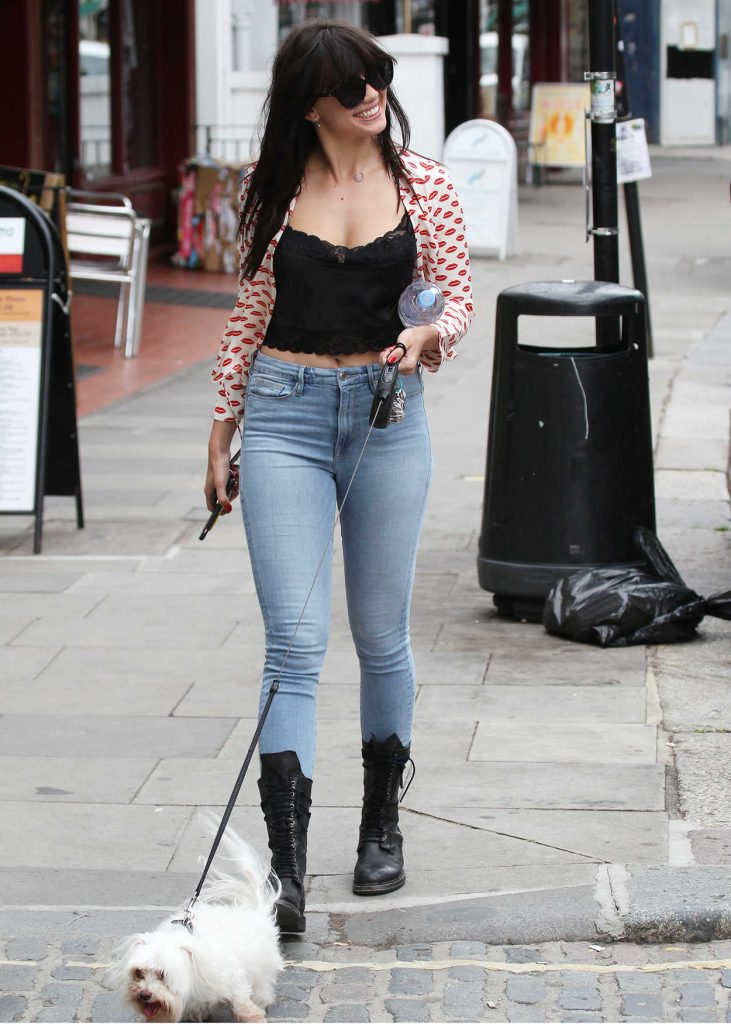 Daisy Lowe Walks Her Dog in London 07/13/2017-1