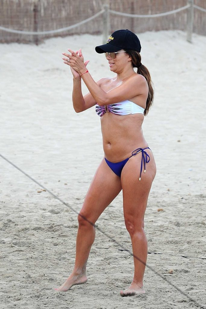 Eva Longoria Plays a Beach Volley Match in Ibiza 07/21/2017-1