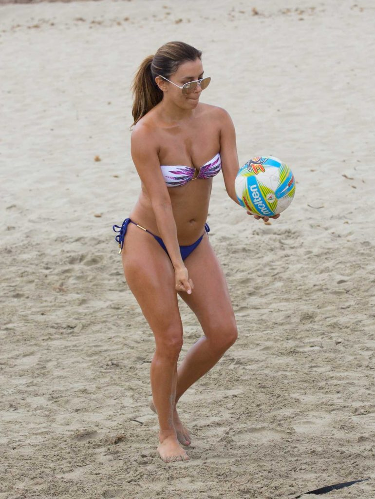 Eva Longoria Plays a Beach Volley Match in Ibiza 07/21/2017-5