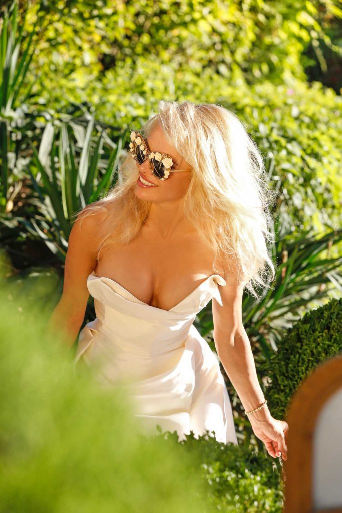 Pamela Anderson at the Her Vegan Restaurant La Table du Marche by Pamela Opening in Ramatuelle 07/04/2017-5
