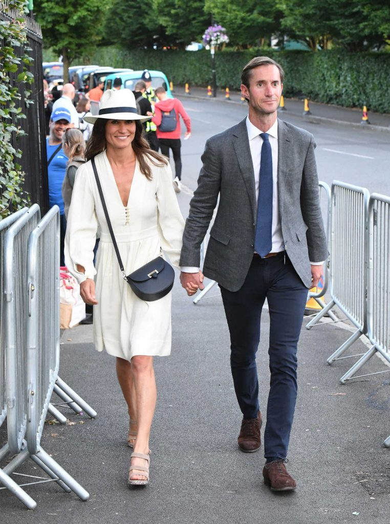 Pippa Middleton Leaves the Wimbledon Tennis Championships in London 07/14/2017-2