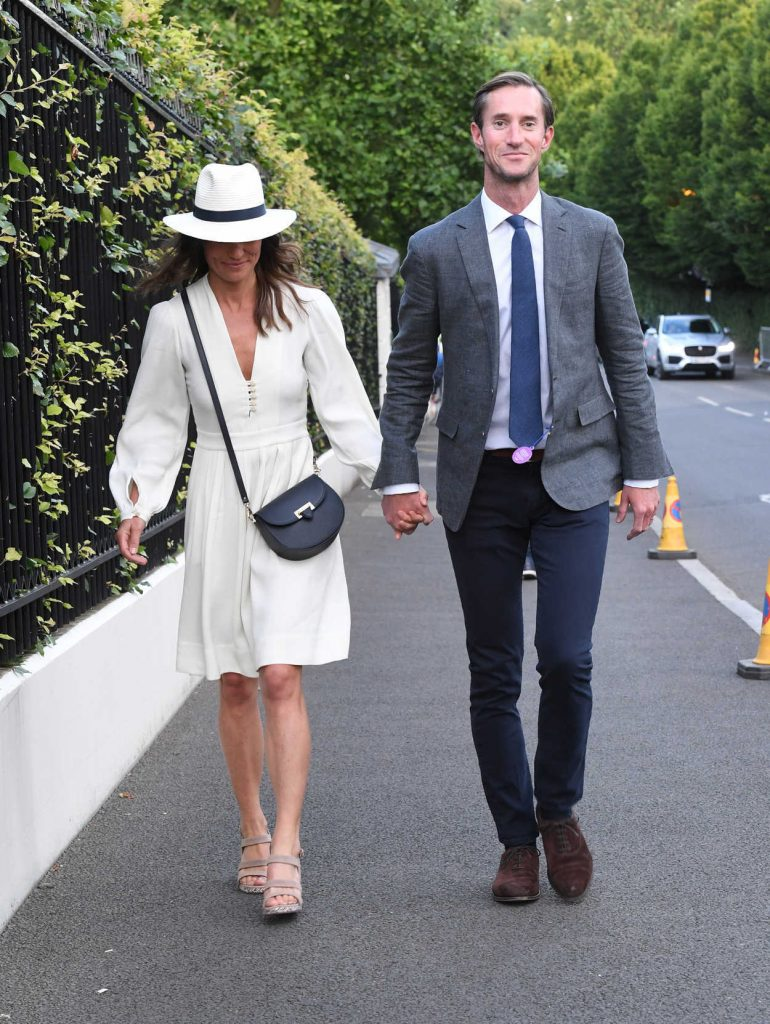 Pippa Middleton Leaves the Wimbledon Tennis Championships in London 07/14/2017-3