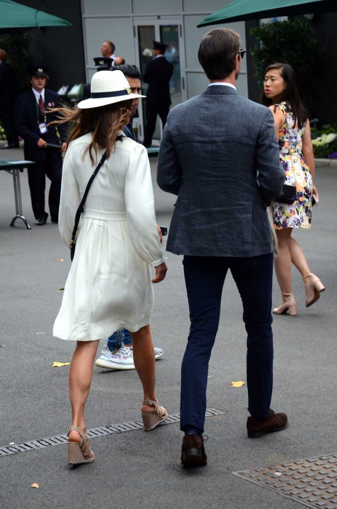 Pippa Middleton Leaves the Wimbledon Tennis Championships in London 07/14/2017-4