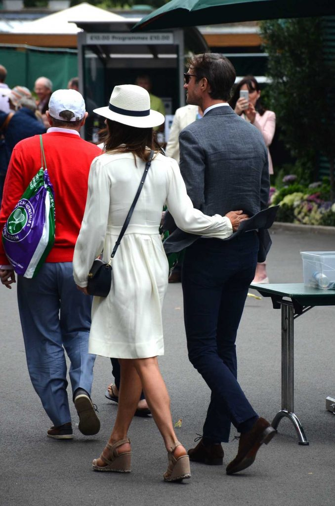 Pippa Middleton Leaves the Wimbledon Tennis Championships in London 07/14/2017-5