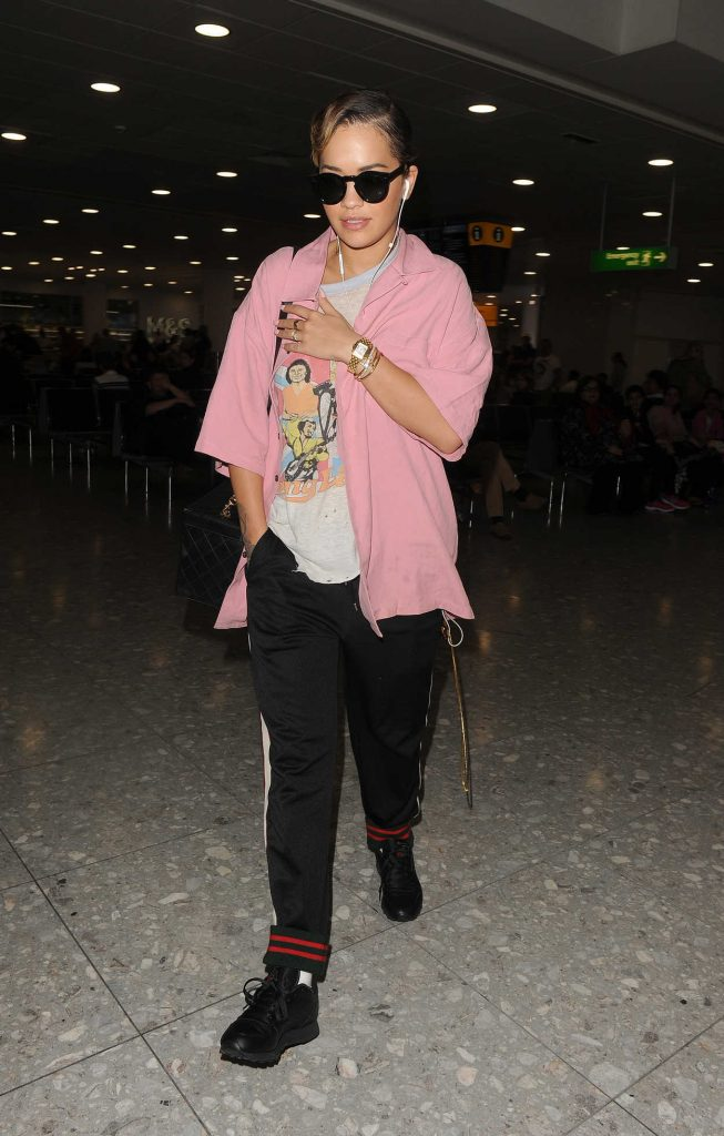 Rita Ora Arrives at Heathrow Airport in London 07/21/2017-1