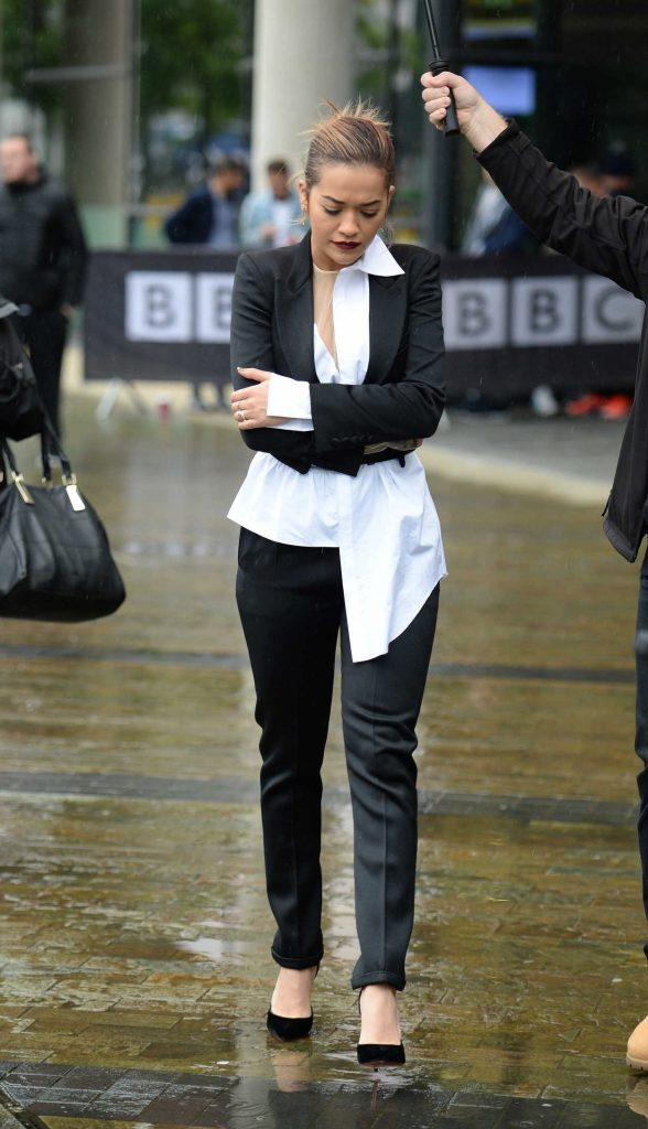 Rita Ora Arrives to BBC Breakfast in Manchester 06/29/2017-2