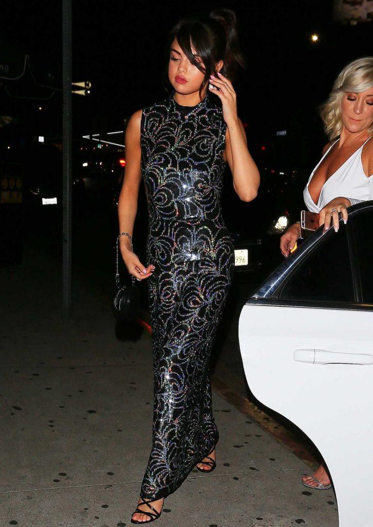 Selena Gomez Wears a Bedazzled Black Dress Out in LA 07/24/2017-1