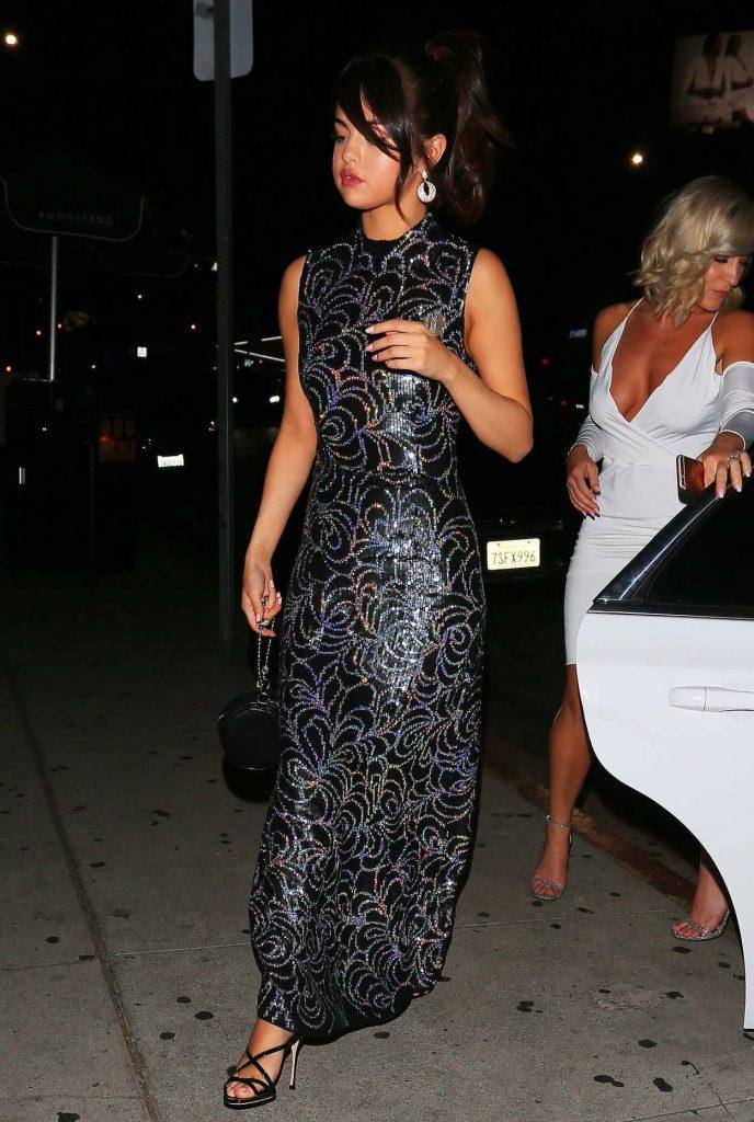 Selena Gomez Wears a Bedazzled Black Dress Out in LA 07/24/2017-2