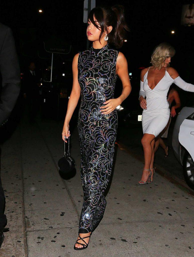 Selena Gomez Wears a Bedazzled Black Dress Out in LA 07/24/2017-3