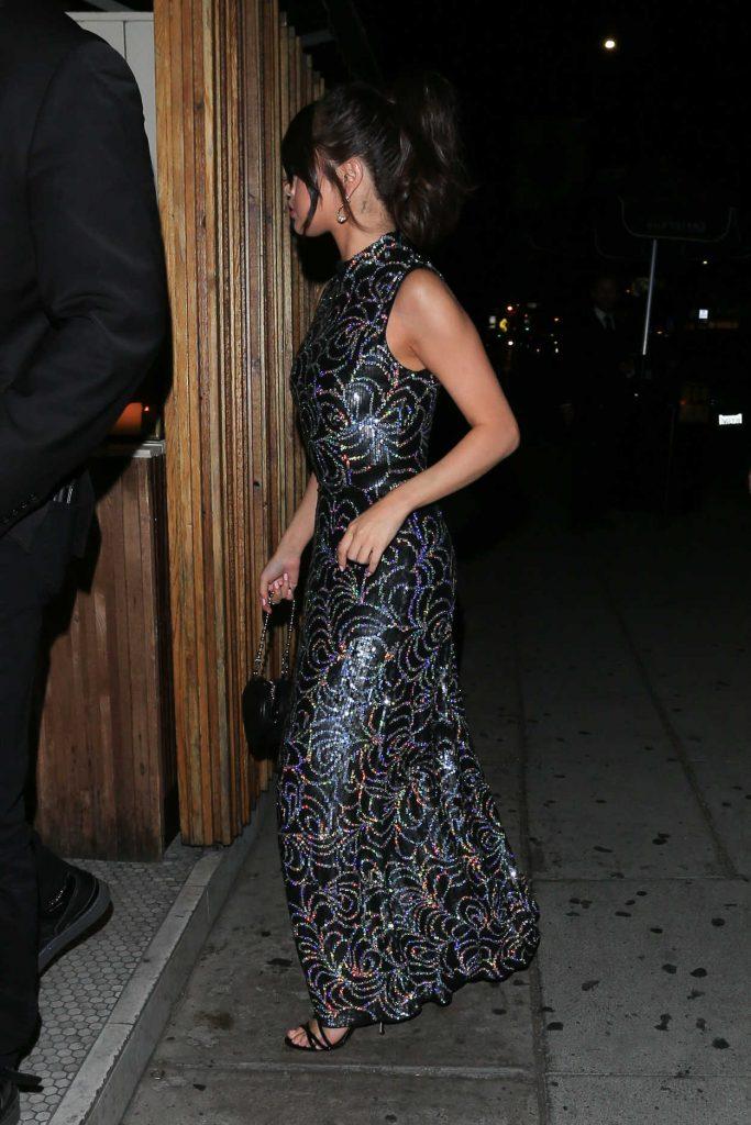 Selena Gomez Wears a Bedazzled Black Dress Out in LA 07/24/2017-5
