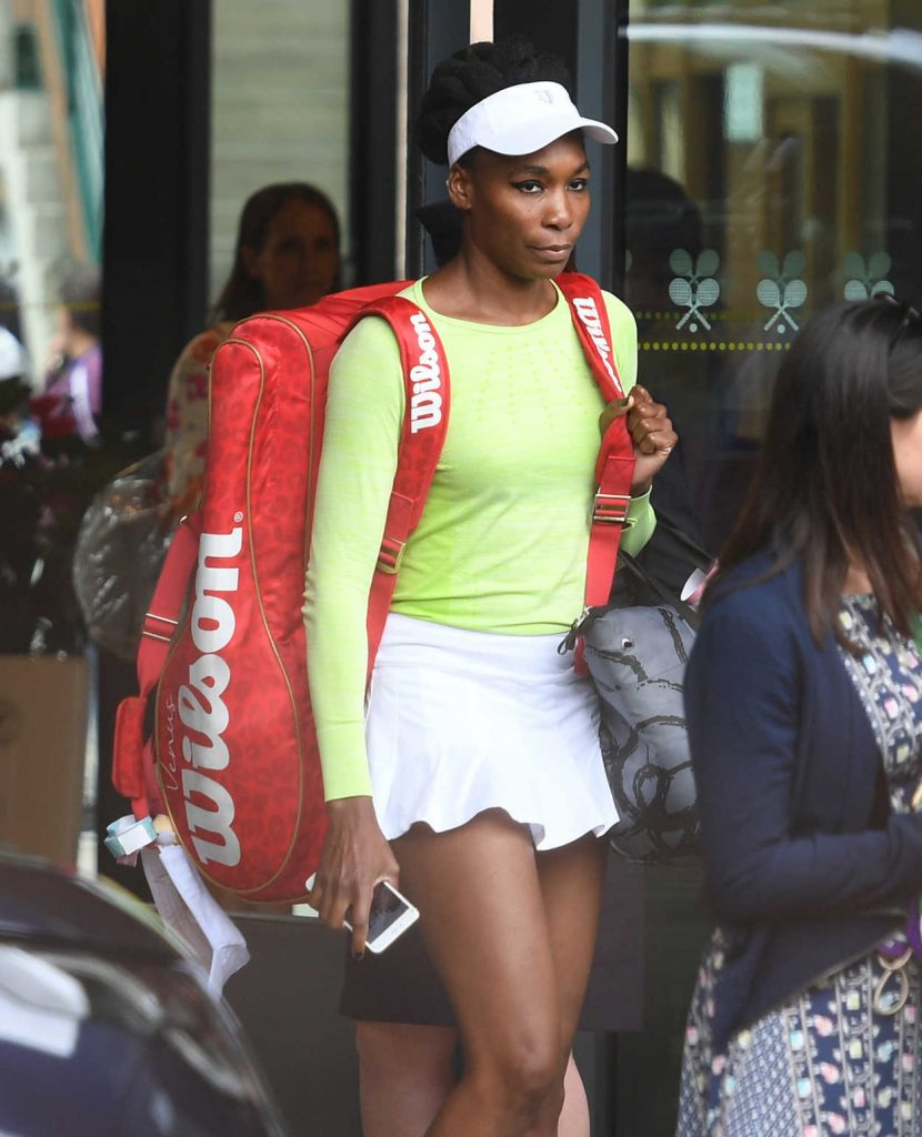 Venus Williams Leaves Wimbledon After Her Final Defeat 07/15/2017-4