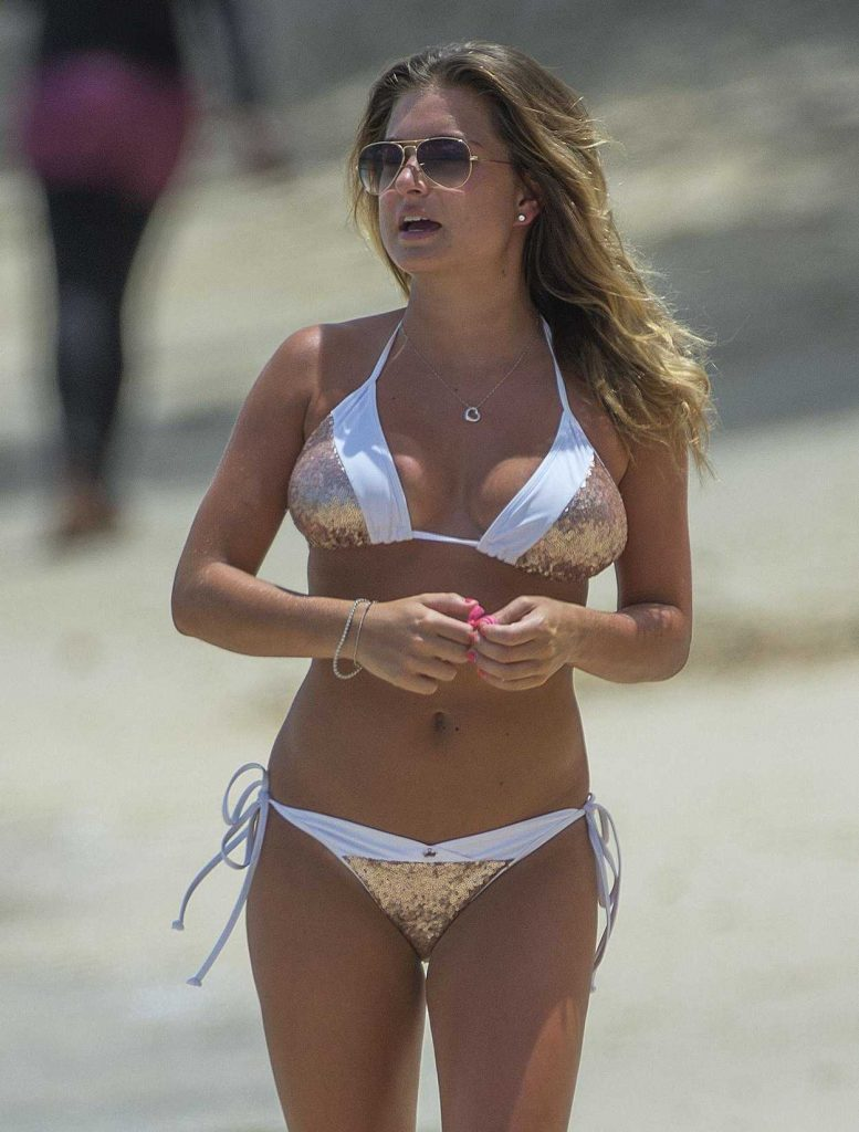 Zara Holland in Bikini at the Beach in Barbados 07/27/2017-1