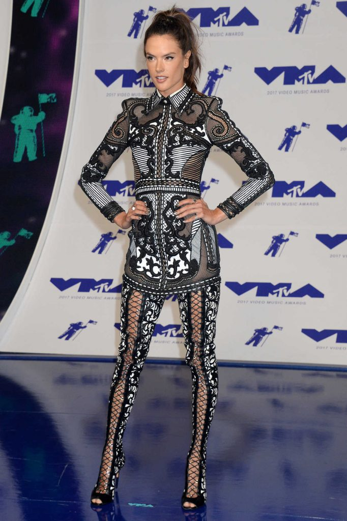 Alessandra Ambrosio at the 2017 MTV Video Music Awards in Los Angeles 08/27/2017-2