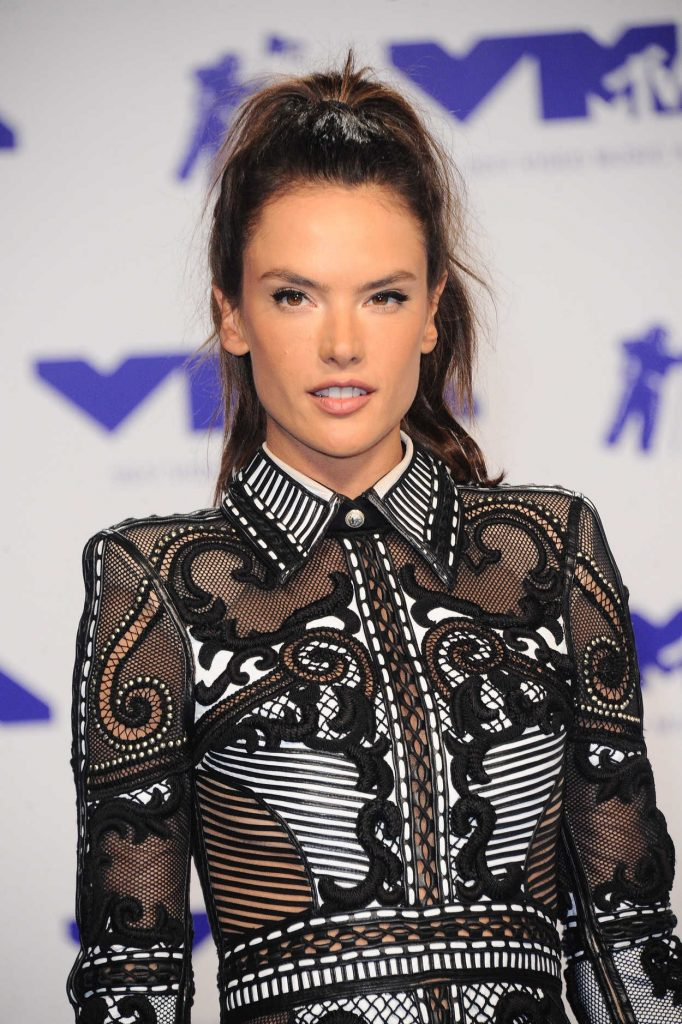 Alessandra Ambrosio at the 2017 MTV Video Music Awards in Los Angeles 08/27/2017-5