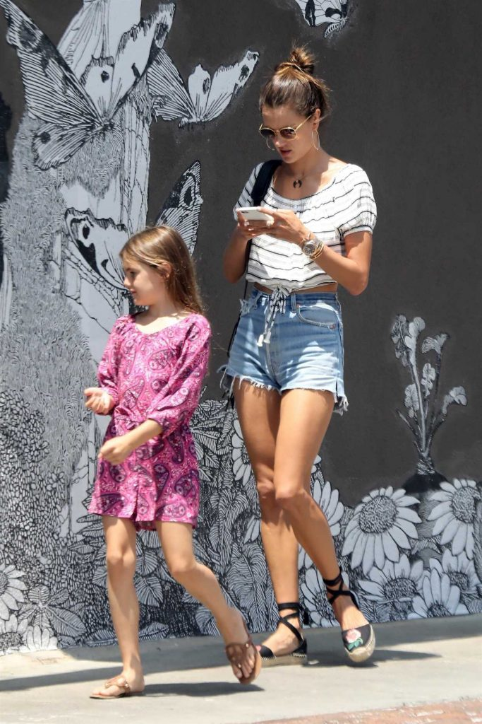 Alessandra Ambrosio Goes Shopping in Venice Beach 08/10/2017-5