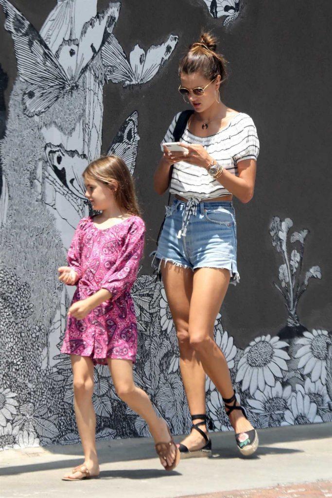 Alessandra Ambrosio Goes Shopping in Venice Beach 08/10/2017-5