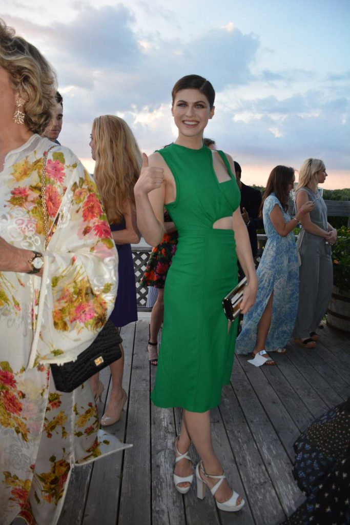 Alexandra Daddario at Women's Health 6th Annual Party Under the Stars in Bridgehampton 08/06/2017-2