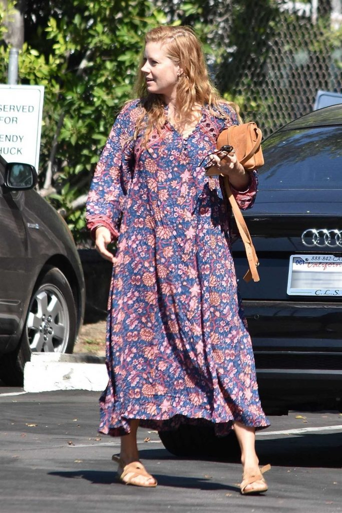 Amy Adams Arrives at a Studio in Burbank 08/11/2017-4