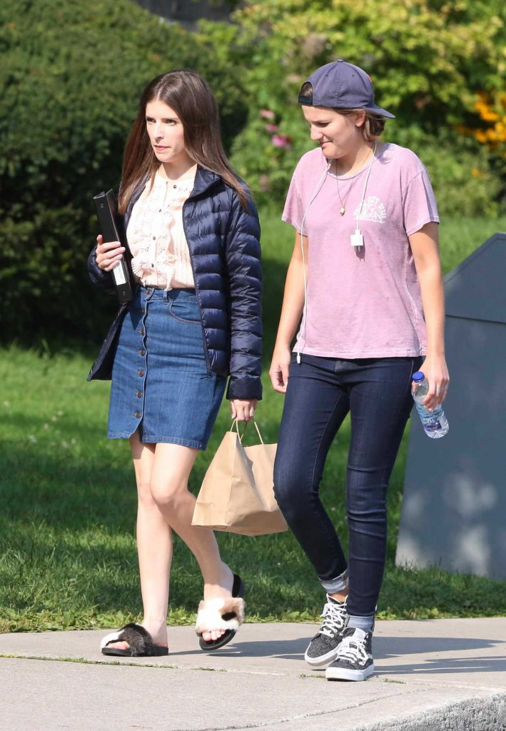 Anna Kendrick on the Set of Her New Movie A Simple Favor in Toronto 08/16/2017-4