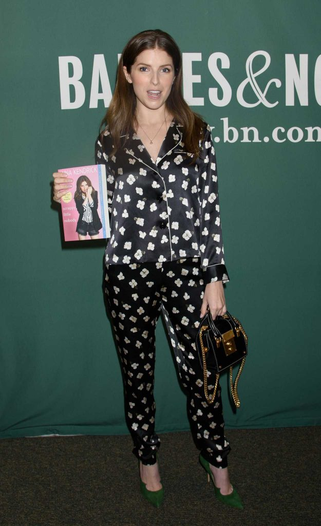 Anna Kendrick Promotes Her New Book Scrapy Little Nobody in New York City 08/19/2017-2