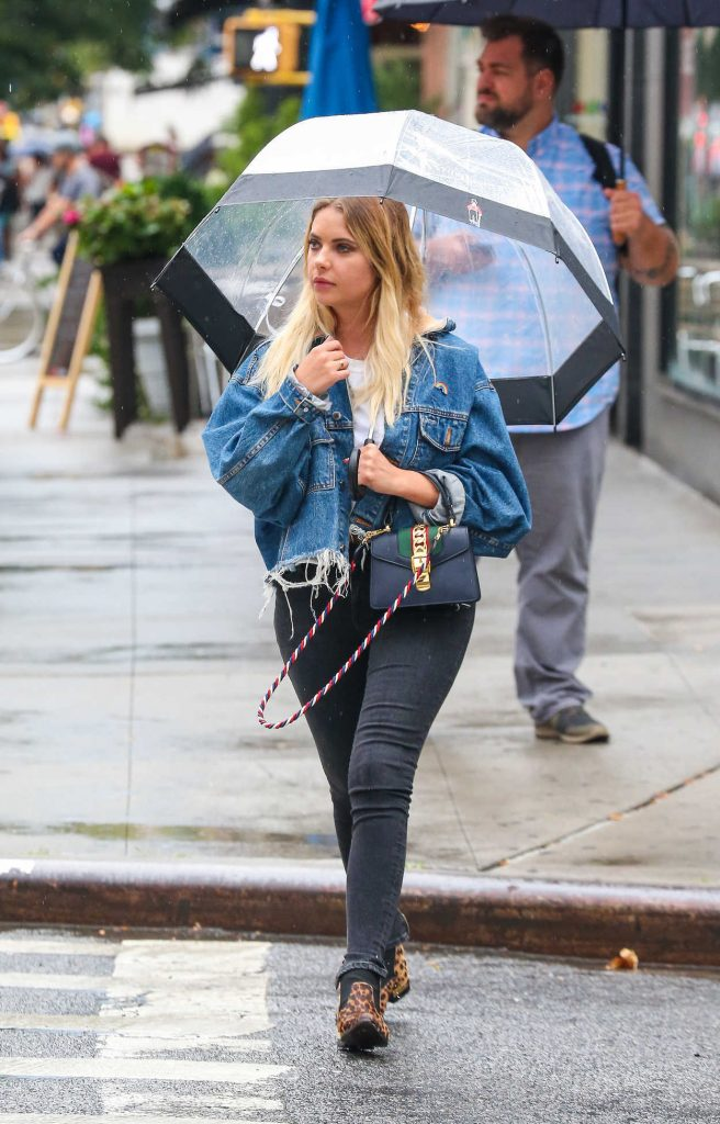 Ashley Benson Was Seen With an Umbrella in NYC 08/02/2017-1