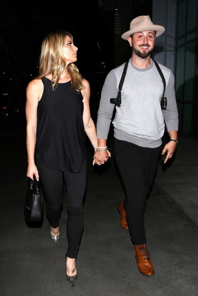 Ashley Greene Arrives for the Ed Sheeran Concert in LA With Paul Khoury 08/10/2017-3
