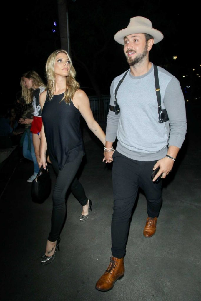 Ashley Greene Arrives for the Ed Sheeran Concert in LA With Paul Khoury 08/10/2017-5
