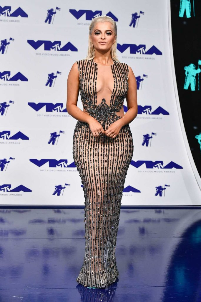 Bebe Rexha at the 2017 MTV Video Music Awards in Los Angeles 08/27/2017-1