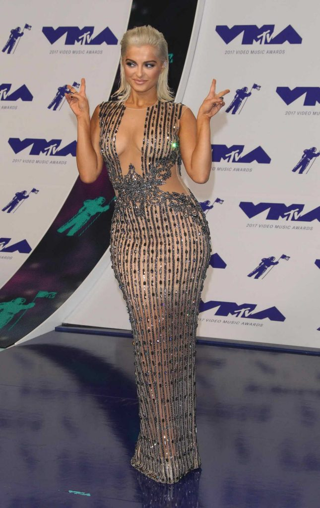 Bebe Rexha at the 2017 MTV Video Music Awards in Los Angeles 08/27/2017-2
