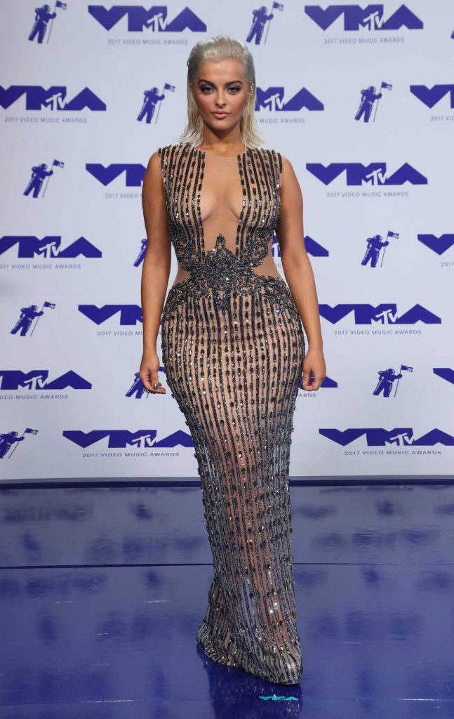 Bebe Rexha at the 2017 MTV Video Music Awards in Los Angeles 08/27/2017-3