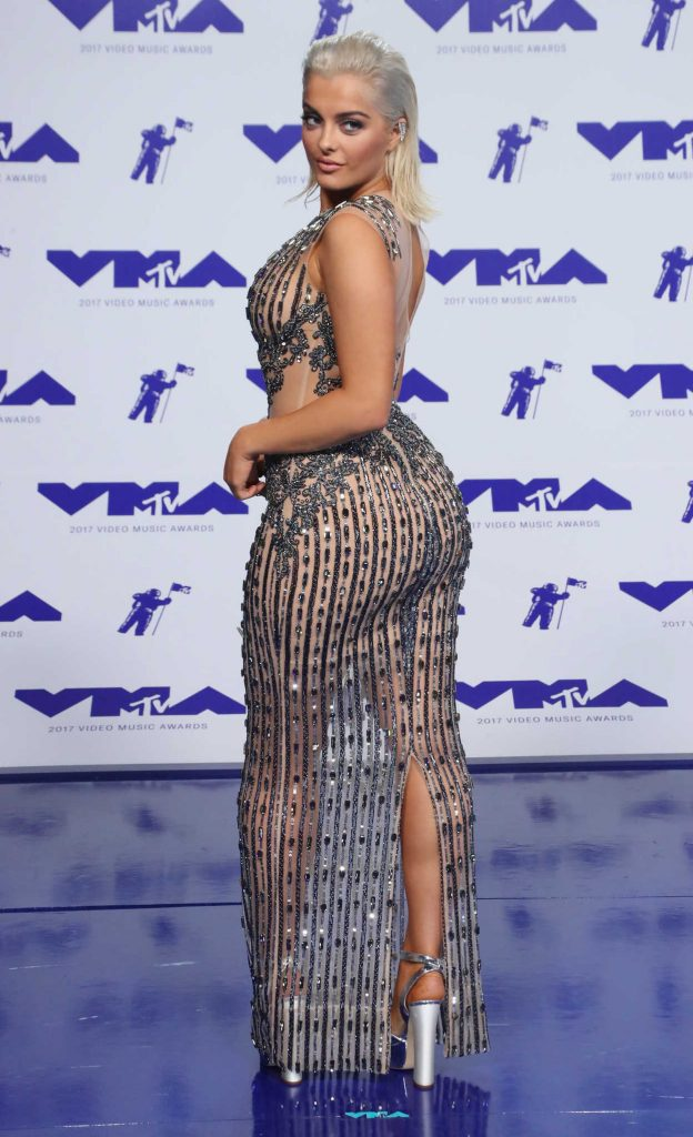 Bebe Rexha at the 2017 MTV Video Music Awards in Los Angeles 08/27/2017-4