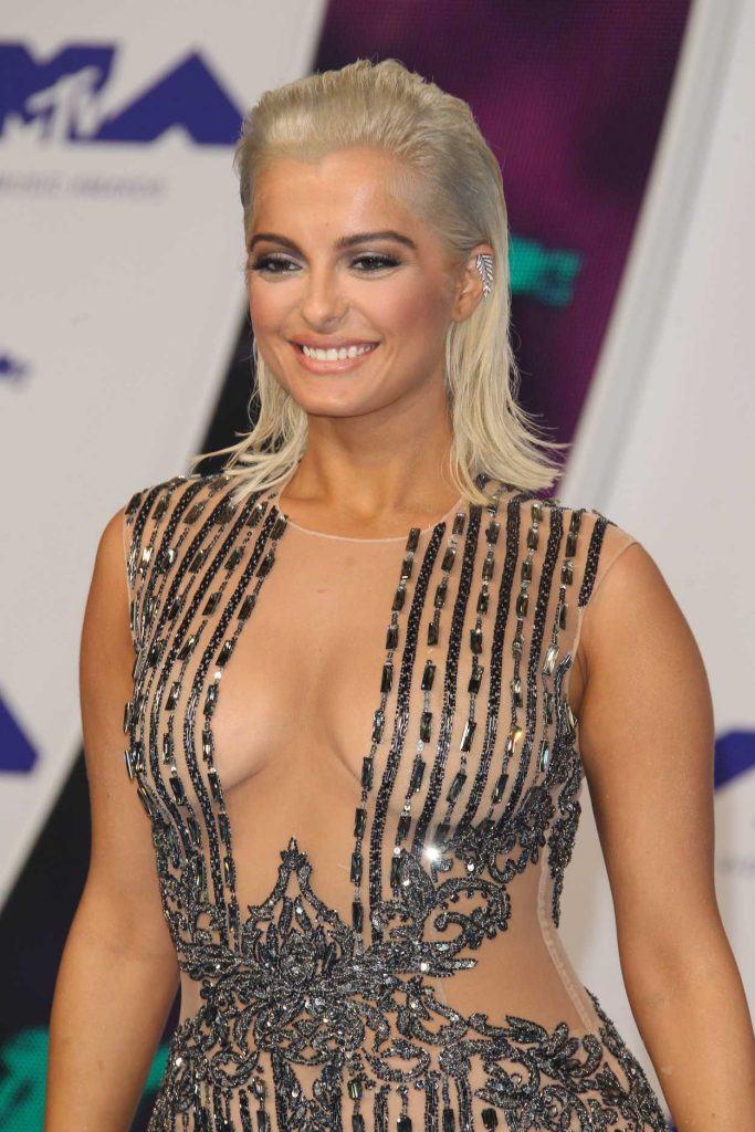 Bebe Rexha at the 2017 MTV Video Music Awards in Los Angeles 08/27/2017-5